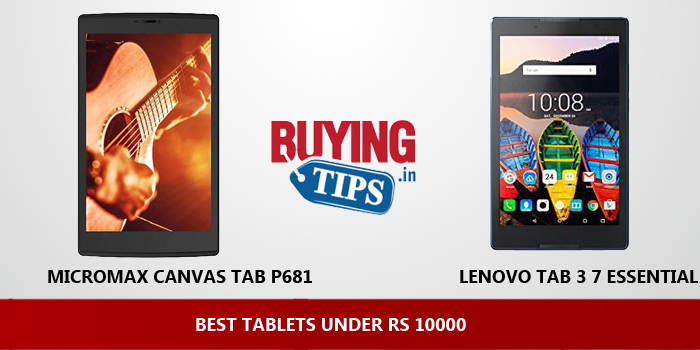 Best Tablets Under 10000 Rs January 2019