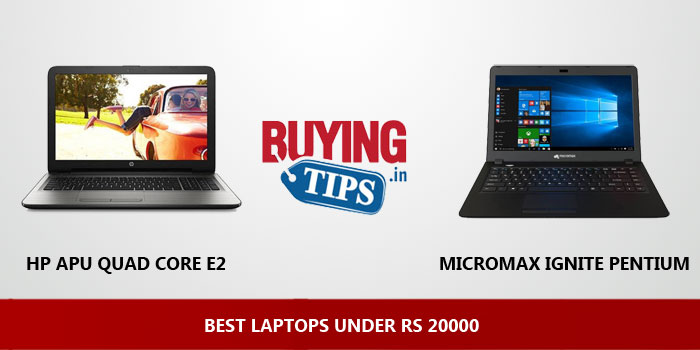 Best Laptops Under Rs 20000