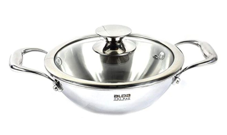 Alda Stainless Steel Kadai Cookware 2020