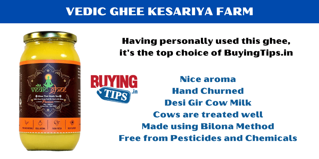 Best A2 Desi Cow Ghee India