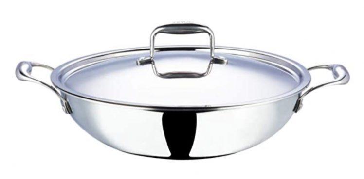 Vinod Stainless Steel Kadai Cookware