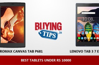 Best Tablets under 10000 Rs: January 2018
