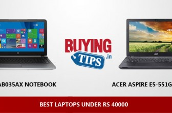 Best Laptop under Rs 40000: February 2019
